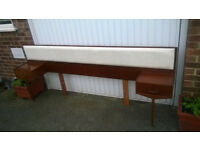 Vintage Continental padded Double headboard