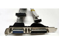 DB15 (Female) + DB25 (Male) - Flat Cable - Connector/Adapter - Mounted