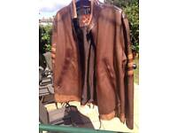 Real Italian leather 'wolverine' style jacket
