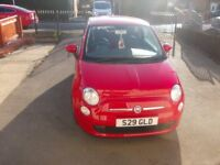 Red Fiat 500 pop 1.2 litre 13 Plate Dual Logic with start stop technology