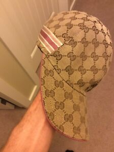Authentic Gucci GG Canvas Pink Accents
