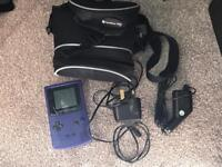 Game Boy Colour with chargers and case