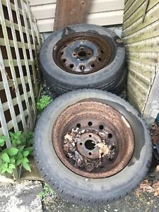 4 tires and steel rims Civic
