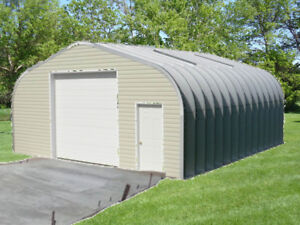 Must Sell! Steel Garage w base plate foundation anchors