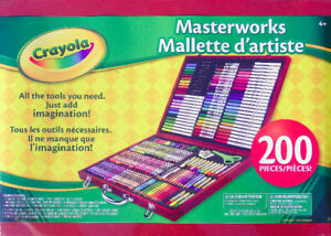*NEW*Crayola 200-Piece Masterworks Art Case-Crayon-Pencil-Marker