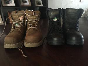 Woman's size 6 steel toe boots ( Dakota & JB Goodhue)