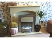 Electric Fire & Fireplace Surround in immaculate condition