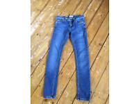 Men's jeans 28inch waist, super spray Topman