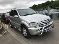 2004 MERCEDES BENZ ML 270 2.7 CDI DIESEL AUTOMATIC STATIONWAGON LONG MOT JEEP TOWBAR N X5 FREELANDER
