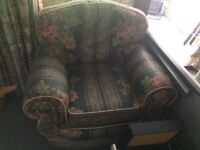 FREE, FREE FREE! Comfortable 3 Piece Suite (Sofa and Two Arm Chairs)