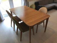 Hygena Emmett Extending Oak Dining Table + 6 Chairs R.R.P. £799
