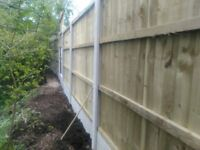gravel boards and concrete posts for sale