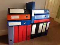 17 Folders with pockets. Used but in good condition, ideal for uni students.