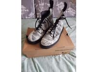 Doc Martens - Black and White 'Painter' size 6