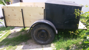 4x8 trailer with lock box