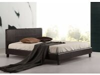 ★★SINGLE,DOUBLE & KING SIZE ★★ HIGH QUALITY FAUX LEATHER BED FRAME (GOOD DEAL WITH MATTRESS)