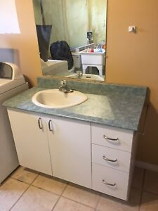 Bathroom vanity with cabinets
