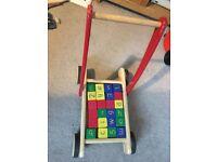 Wooden walker and blocks