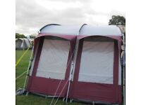 Caravan awning for sale - red Royal Wessex 2 tier. Selling as I got new air awning