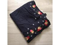 Navy scarf floral detail £5