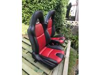 Vw t4 t5 kit car Mazda bongo landrover defender black and red leather seats