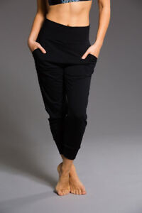 ONZIE, black, high waist pants, sz L