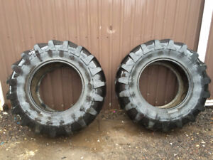 Two Michelin Agribib 14.9R24 Tractor Tires