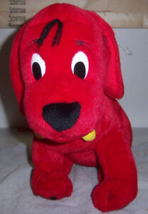 "Clifford The Big Red Dog Stuffed Plush Sitting Dog - 12"" 2002 Sc"
