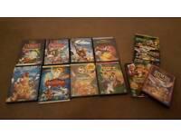 Various Disney dvds, £1 each, box set £2
