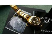 Gold plated swiss watch