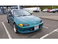 Honda civic eg coupe for sale show car 1.5 low miles new wheels