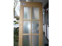 PINE DOOR-GLASS PANED