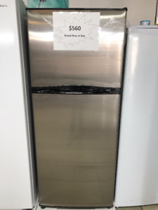 "BRAND NEW 12CUFT 24"" STAINLESS STEEL FRIDGES-  1 YEAR WARRANTY"