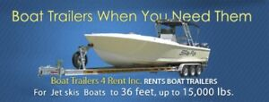 Can I Rent your boat trailer to pickup a 24' boat