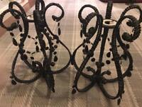 Black chandeliers light shades