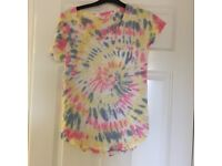 ladies hollister tie-dye t-shirt