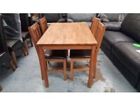 Ex Display As New Julian Bowen Coxmoor Oak Dining Table & 4 Chairs Can/Del View Collect Kirkby NG177