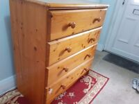 Wooden Westminster pine chest of drawers retail selling £359