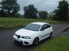 2007 57 SEAT IBIZA FR TURBO BIG SPEC 230 BHP FSH LONG MOT VERY FAST CAR RARE IN WHITE