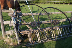 Antique Iron Wagon Wheels 54 Inches in Diameter 3 Available Now