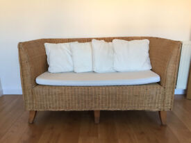 Wicker 2 Seater Couch