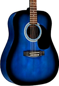 Blue acoustic rivertone guitar