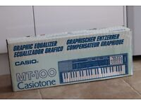 Casio MT-100 keyboard with graphic equalizer