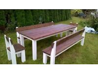 SOLID WOOD DINING/COFFEE TABLES,BEDS,DRESSERS,TV UNIT,SIDEBOARDS,GARDEN&PATIO BENCHES FROM £49 LOOK