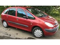 Citroen Xsara Picasso DIESEL 2.0 HDi SX 5dr with FULL YEARS MOT FAMILY MPV CHEAP TO RUN