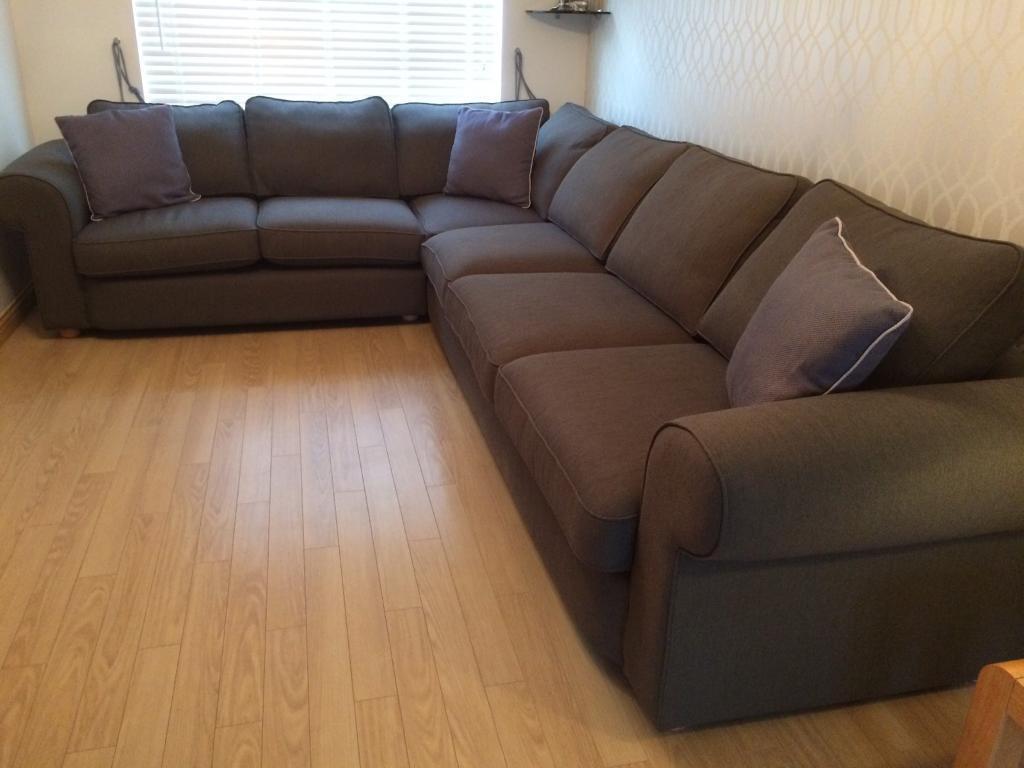 corner sofa extra large 6 seater in denny falkirk. Black Bedroom Furniture Sets. Home Design Ideas