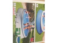 Bestway quick up pool with cover. 10ft