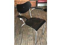 Mid Century Desk/ Armchair With Tubular Frame