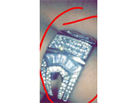 Men's 925 silver ring chunky