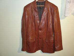 Manteau de cuir Italien, brun, marque Danier